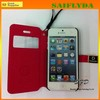 New flip leather case for iphone 5c mobile phone leahter case