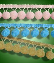 Soft Pom Pom Fringe for Fashon Goods Accessories