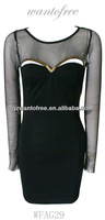 sheer mesh sexy tight fit bodycon dress for women and ladies