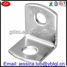 high precision customized decorative l brackets,metal l bracket,round chamfer l shaped shelf brackets white zinc plated steel