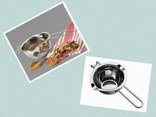 Stainless steel chocolate melting bowl flat bottom, butter melting bowl