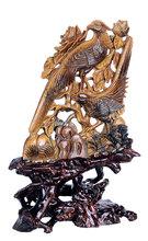 tiger eye charming bird sculpture for wedding gift