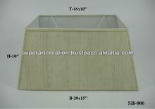 Rectangular Off White Fabric Lamp Shade