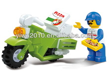 construction toys City Scene - Dining Motorcycle (Pizza Delivery)