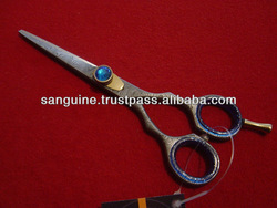 DAMASCUS STEEL DOG GROOMING SCISSORS - 5.5 ""