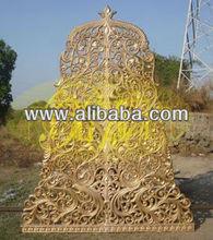 carved cut work design jali wedding mandap decoration