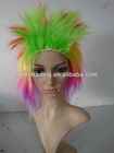 Brazilian World Cup flag gift football fans wig hair radium salon beauty equipment
