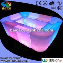 small cornerroom sofa with led light and cabinet