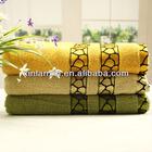 100% cotton bright colored jacquard fancy bath towels