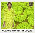girasol de alta calidad de tela de encaje amarillo de flores de organza bordado de tela de encaje para satisfaciendo
