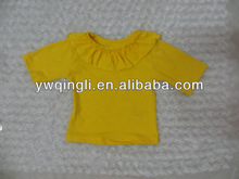 100 cottton baby girls clothing kids yellow cotton short sleeves t shirts for girls