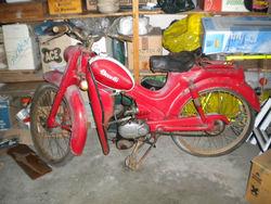 antique motorcycle Benelli 50 cc