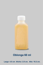 HDPE Plastic Oblong Bottle for Liquids with Cap