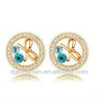 Kingman 2013 Genuine Crystal Girls Fashion Earring Beads Clear Crystal