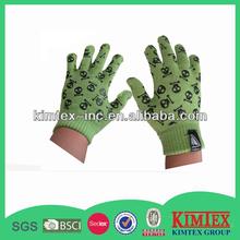 2014 Fashion custom acrylic knitted printing logo gloves