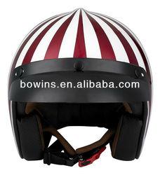 women three quarters red scooter helmet