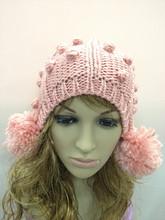 Fashion Womens Warm Winter Beret Braided Baggy Beanie Crochet knitting Hat Ski Cap