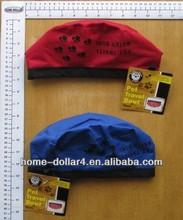 Folding waterproof nylon dia 22cm in oxford cloth pet travel water bowl