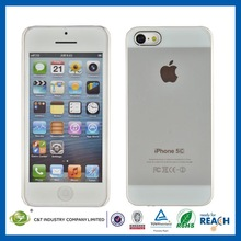 C&T Transparent clear hard smart phone case for iphone 5c