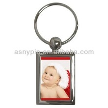 Christmas Baby Santa Claus Key Chain/ metal photo frame key ring