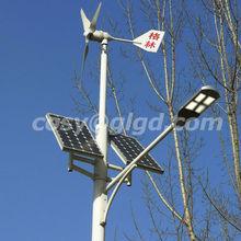 solar wind hybird street light intelligent,small scale,off-grid system 100w-300w solar modules 300w wind turbine