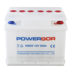 12v 55ah dry charged lead acid rechargeable battery