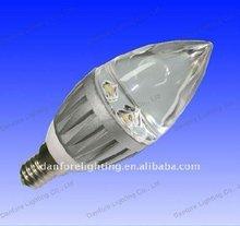 led clear candle bulb 3W E14