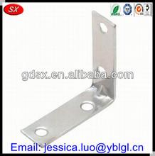 Dongguan stamping corner brackets decorative,corner brace & shelf bracket,precise corner bracket steel zinc plated