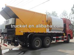 howo 10 wheels asphalt sealer with 6cbm asphalt tank and 10cbm gravel tank