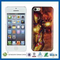 C&T Shining golden light design plastic hard case for iphone 5c