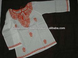 KIDS Elegant Cotton Kurti With Elite Embroidery