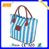 China factory direct produce nylon tote bag leather handles(NV-TO010)