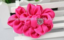 Diamond rose fabric flower garment accessories flower girl handmade hair accessories silk flower