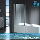frameless double glass bath shower door