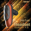 2013 new headset bluetooth of fashion design,with NFC,anti-lost,earhook,mic,for iPhone,Samsung,Sony,mobile phone,smartphone
