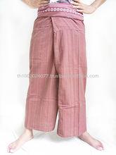 Brick Color Long Fisherman Pants