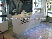 Bensonit solid surfacereception desk manufacture