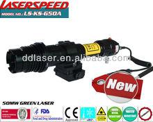 GUN LASER DESIGNATOR/subzero outdoor hunting rifle mounted 50mw green quick release laser illuminator