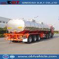 De aluminio de combustible diesel de cisterna de transporte semi- remolque de camión