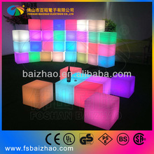 LED waterproof plastic decoration glowing beautiful bar furniture
