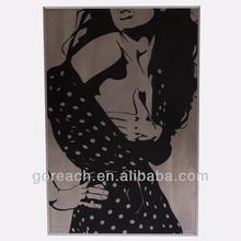 nake girl oil painting