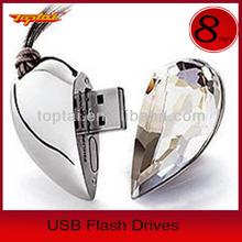 Jewelry Diamond Usb Flash Drive/diamond Heart Usb,Jewelry Heart Shape Usb Flash