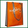 Orange non woven bag laminated,non woven polypropylene bag,laminated reusable shopping bag