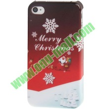 Merry Christmas !! Plastic Christmas Phone Case for iPhone 4S & 4