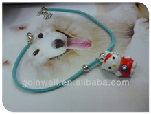 Cartoon bell will ring Dogs & Cat necklace Korean velvet exquisite bell necklace pet accessories P0640256