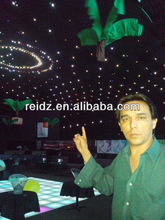 hot selling ceiling decro led rgb soft curtain/easy installation