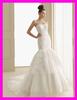 2014 guangzhou factory rufle organza bridal gown