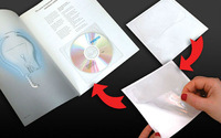 CD Sleeve with back adhesive, 0,18 mm PVC