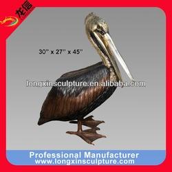 Bronze Pelican Fountain Sculpture Bronze Animal Sculpture