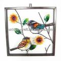 jardim decoração da parede de vidro pintura de desenhos de flores
